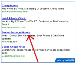 People click the links on the google adsense advertisement which is linked to your hubpages account or website.