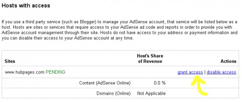 Grant access to Hubpages