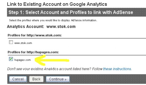 Complete Linking Google Analytics with AdSense for HubPages. Google and the Google logo are registered trademarks of Google Inc., used with permission.