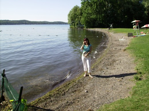 Getting back on course, we not only spotted Canandaigua Lake but ended up in a little park halfway up the east side of the lake in the Township of Gorham, New York.