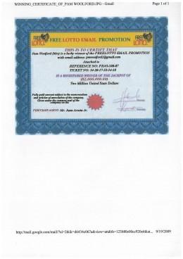 "Copy of ""Certificate of Winnings"""