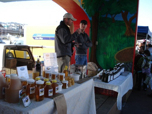You can buy honey, olive oil and other farm goods, but you generally won't find as good a deal as you do with produce.