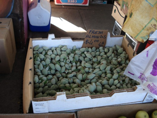 One of my father's favorites--fresh almonds. Armenians make jam out of this.