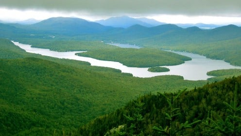 Lake Placid as seen from Whiteface Mountain