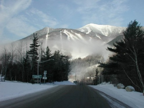 Upon driving into Lake Placid, New York, this is exactly what you would see