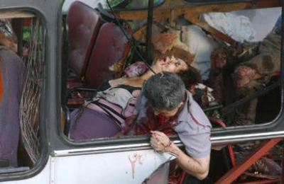 PLO BOMBED THIS BUS IN ISRAEL