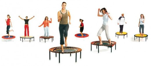 Anyone can have fun while exercising your whole body on a rebounder.
