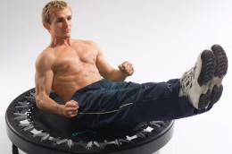 Abs can get a terrific workout on a rebounder.