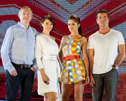The judges come mentors, Louis Walsh, Danni Minogue, Cheryl Cole and Simon Cowell
