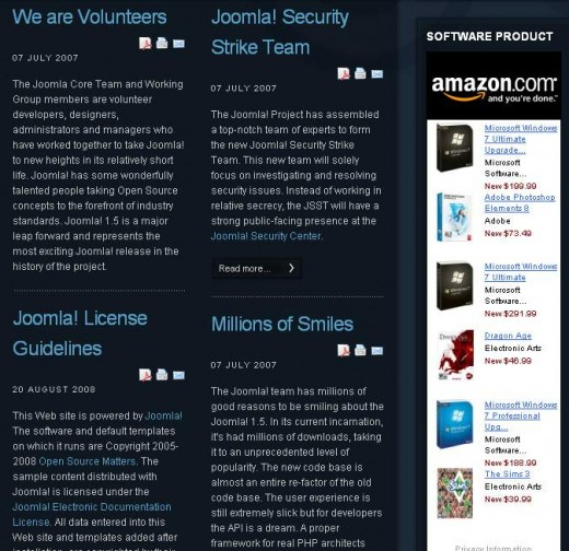 How to Add Amazon Associate code in Joomla 1.5 website