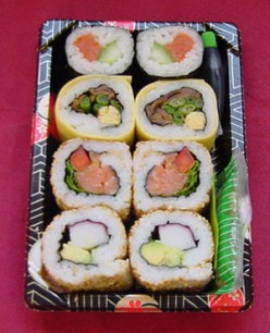 a selection of delicious sushi