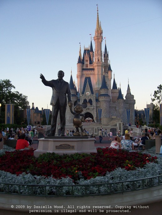Walt and Mickey present the dazzling Cinderella's Castle in the Magic Kingdom