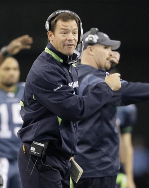 Seattle Seahawks coach Jim Mora shouts at the officials during the first half of an NFL football game against the Dallas Cowboys, Sunday, Nov. 1, 2009, in Arlington, Texas. (AP Photo/Donna McWilliam)