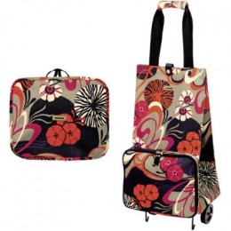 Collapsible foldable shopping bag with wheels