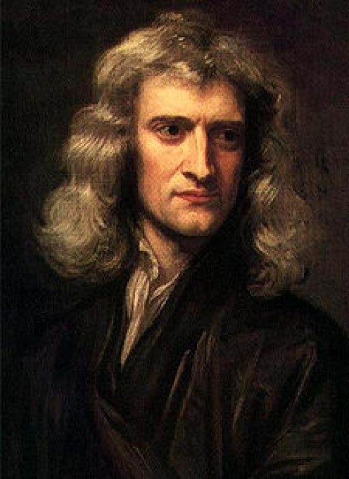 Godfrey Kneller's 1689 portrait of Isaac Newton (aged 46)