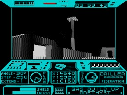 The 3D world of Mitral in Driller on the ZX Spectrum