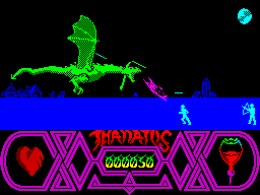 Superb multi-layered scrolling in Thanatos on the ZX Spectrum