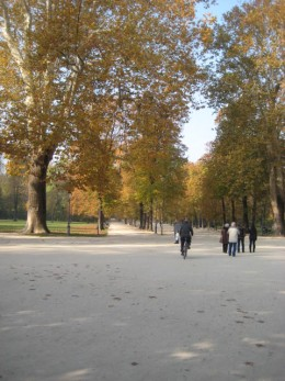 The park is a popular place for the Italian Citizens.