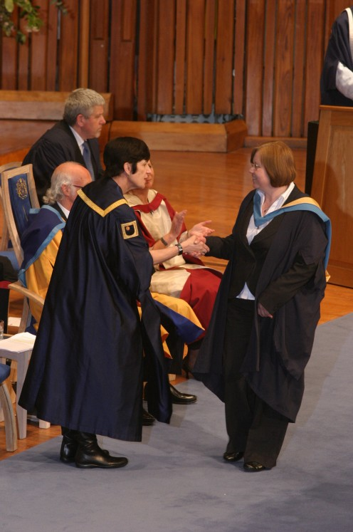 Being presented at the degree ceremony
