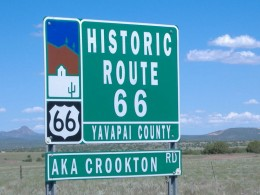 Route 66 sign from Renijishino on creative commons attribution license