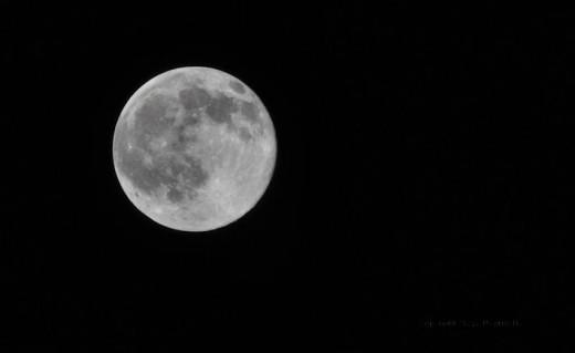 The full moon dominated the sky tonight.