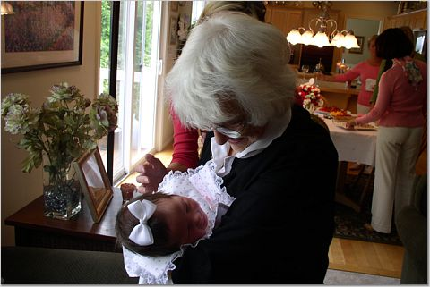 Grandmothers just cannot get enough baby love