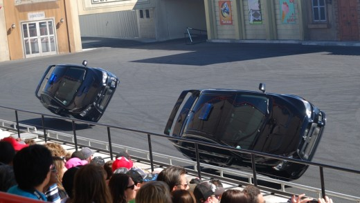 Stunt Drivers show at Movie World 2