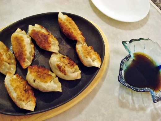 Gunmandu is the Korean version of potstickers, and makes a delicious snack.