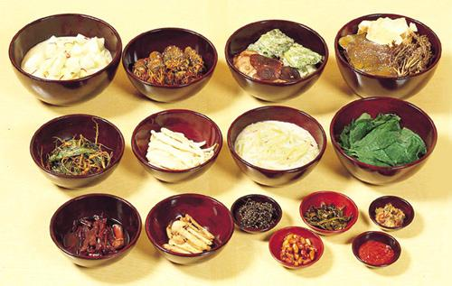 Banchan, let's hope that the last guy who ate from this dish didn't have any communicable diseases that he was feeling generous with.