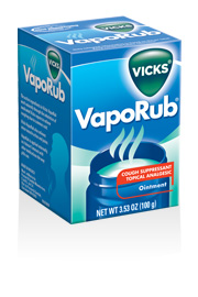 photo of the box of Vick's Vaporub