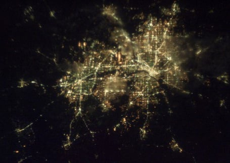 Dallas-Fort Worth area at night, from the International Space Station. (Photos this pager public domain.)