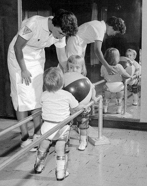 Physical therapy helped in the treatment of polio in the 1950s - 1960s.