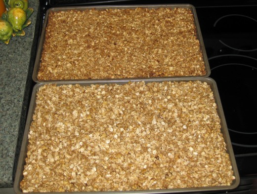 "my two batches - at the bottom of the picture is the ""before"", the top one is the ""after"""