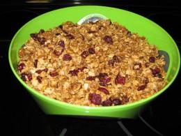 The finished homemade oatmeal!