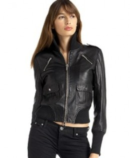 Women Leather Bomber Jackets