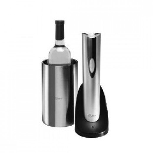 Electric wine opener and wine chiller