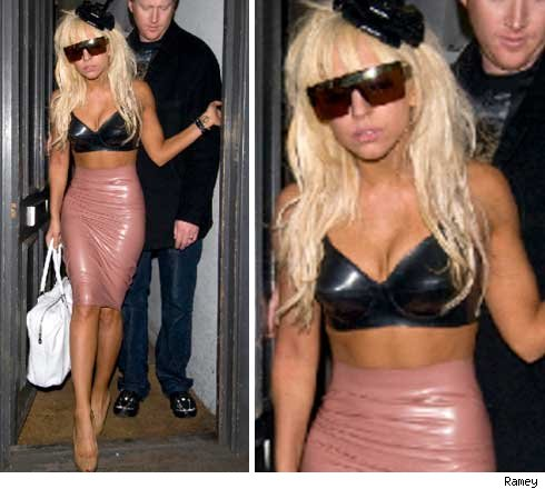 Lady Gaga was seen leaving a London club in this crazy getup.