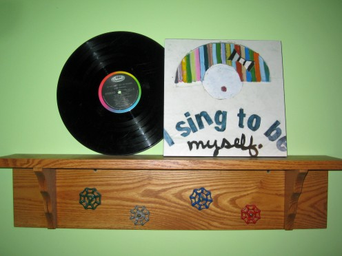 Fun playful shelf helps to inspire writing for children.