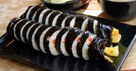 Kimbap, Korea's answer to the sandwich.