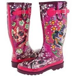 Skull Tatoo Rainie Boots. Too Cute.