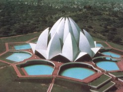 The Lotus temple in New delhi, India is one of the famous Baha'i houses of worship.