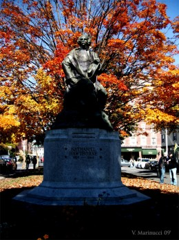 Statue of Nathaniel Hawthorne