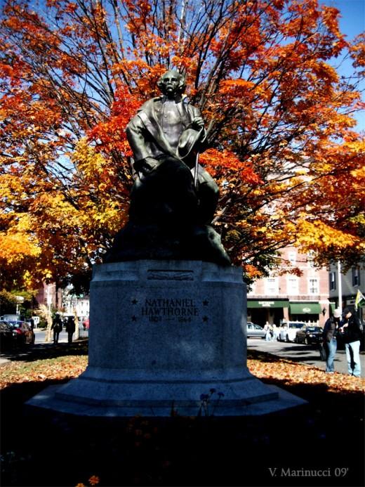 Statue of Nathaniel Hawthorne