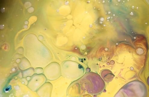ASPECT 19, Robert Kernodle, scan of 35mm slide of fluid dynamic painting event, 2007
