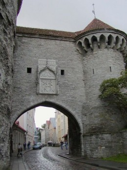 One of the many medieval gates in Tallinn