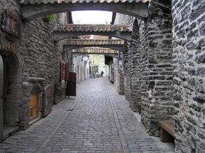 A medieval street in Tallinn