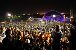 The night version of the Song Festival. The same event in 1988 brought together 300 000 people, 40% of all Estonians living in Estonia, and eventually led to the Estonian re-independence.