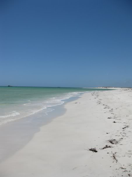 Typical West Australian beach, miles of white sand and pristine waters.