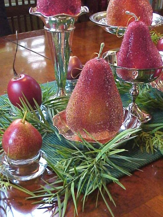Beaded fruits centerpiece about.com