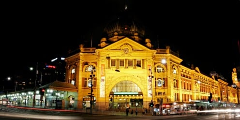 "Flinders Street Station an historic meeting place ""under the clocks"""